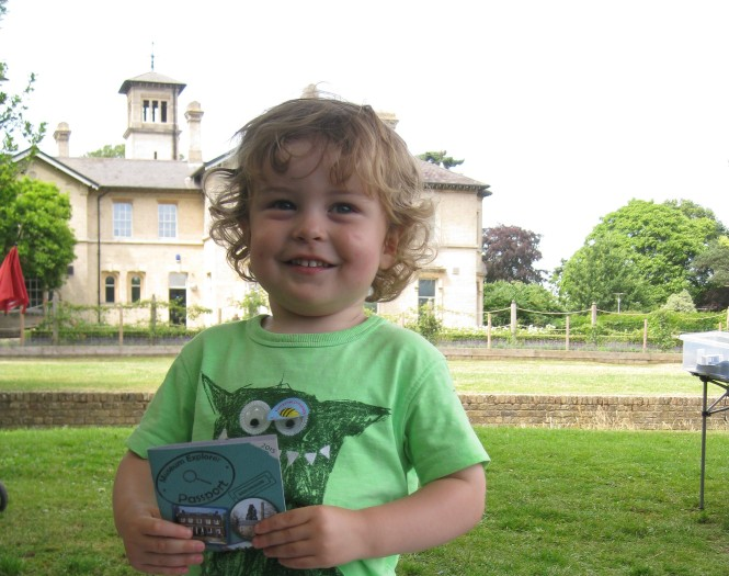 Boy with a Museum Explorer Passport