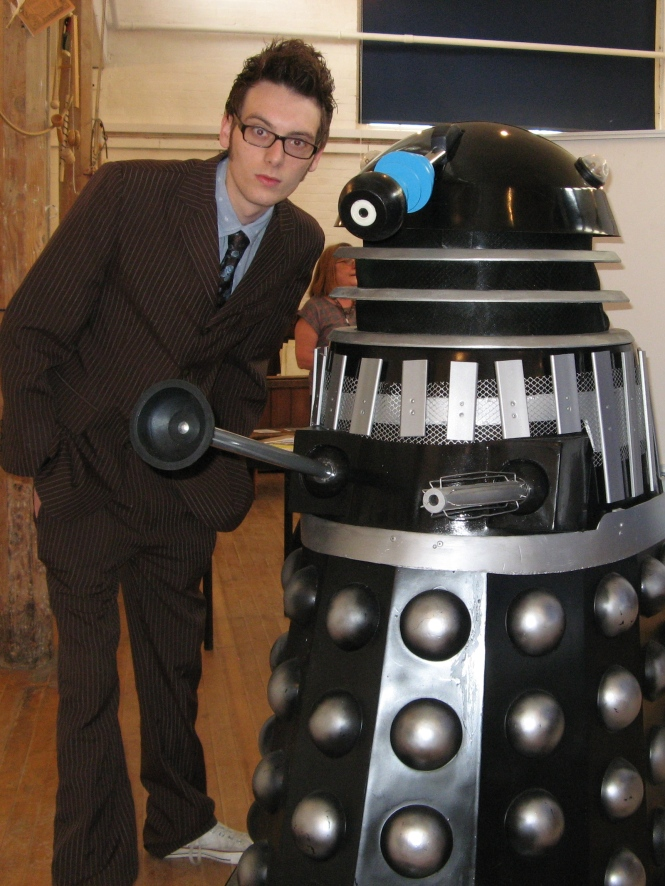 The Doctor and a Dalek